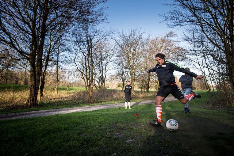 Marcel Peeper, speler bij Footgolf International. Beeld Voetbal International/Footgolf International