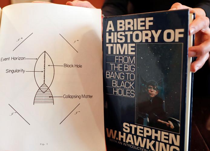 Ook wetenschappelijke documenten van Hawking gaan onder de hamer.