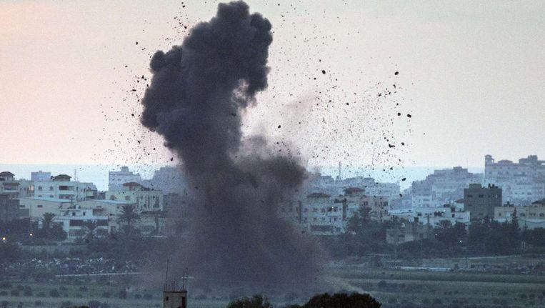 Inslag in Gaza Stad. Beeld belga