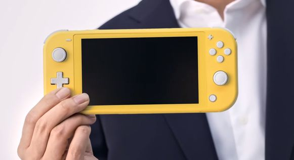 Screenshot: de nieuwe Nintendo Switch Lite.