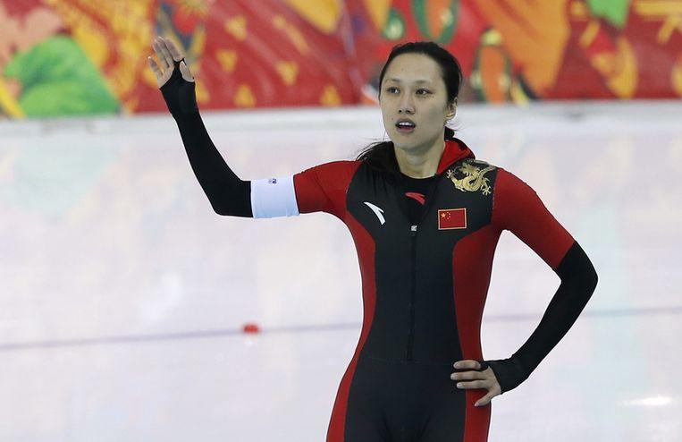 Hong Zhang na haar race Beeld reuters