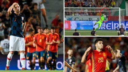 VIDEO. 'Belgische' Kroaten Santini, Kalinic en Mitrovic maken geen te beste beurt tegen Spanje. 'La Roja' veegt WK-finalist compleet van de mat