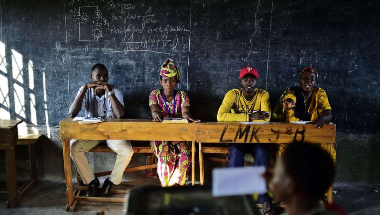 Een stemlokaal in Bujumbura tijdens de verkiezingen op 21 juli. Beeld afp