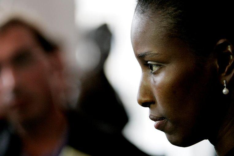 Ayaan Hirsi Ali in 2006, op de dag van haar afscheid van politiek Den Haag. Beeld anp