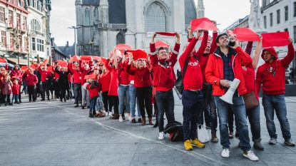 HIV-actie lijkt vakbondsprotest