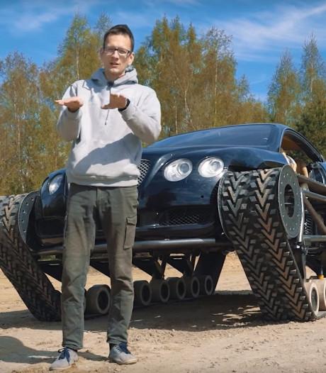 Bentley wordt rupsvoertuig