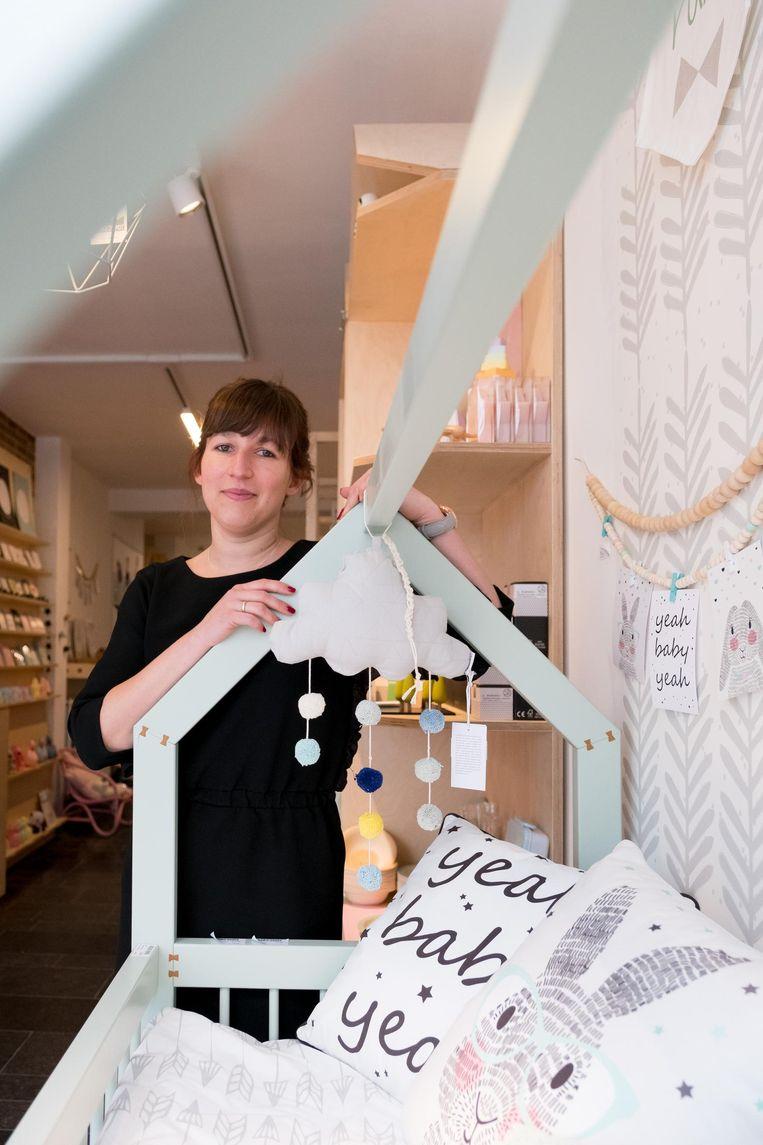 Lore Vanhellemont in haar Atelier Bébé.