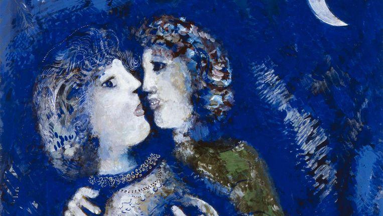 Marc Chagall, Verliefd paar, 1925, collectie Stedelijk Museum Amsterdam. Beeld Stedelijk Museum Amsterdam