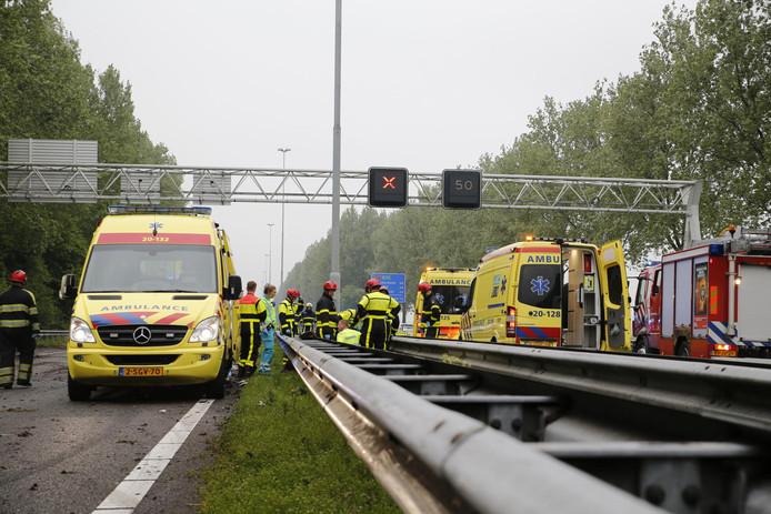 Ongeluk op de A27 bij Oosterhout.