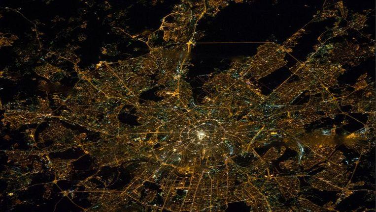 Moskou, gezien vanuit het ISS. Beeld NASA