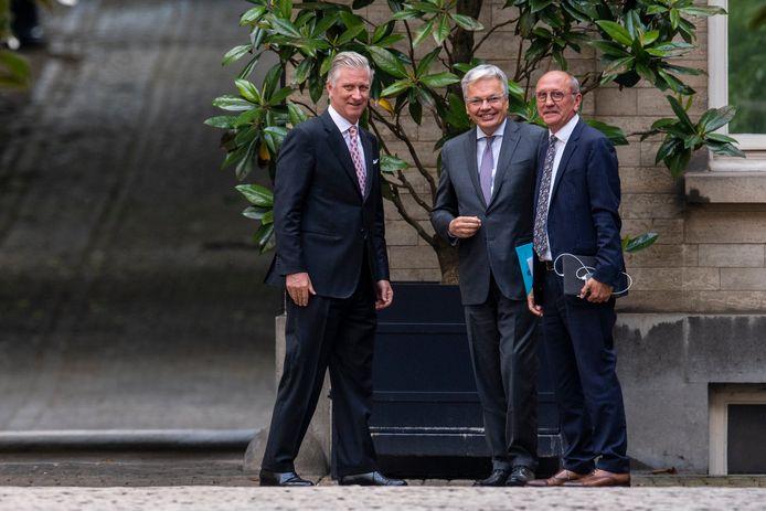 Koning Filip, Didier Reynders en Johan Vande Lanotte.