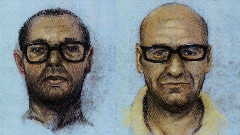 De 'verouderingstekeningen' van Ridouan T. en en Saïd R., verspreid door de politie om de gezochte criminelen op te sporen. Beeld Politie / Opsporing Verzocht