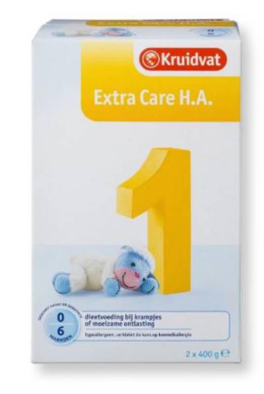 Kruidvat Extra Care H.A. 1 en Kruidvat opvolgmelk Extra Care H.A. 2