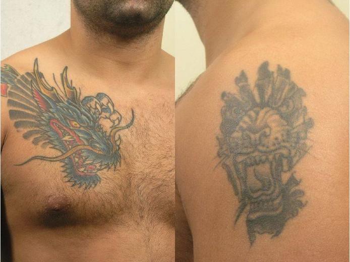 Enkele tatoeages van Cor P.