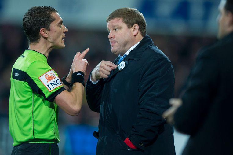 Jonathan Lardot en Anderlecht-coach Hein Vanhaezebrouck.