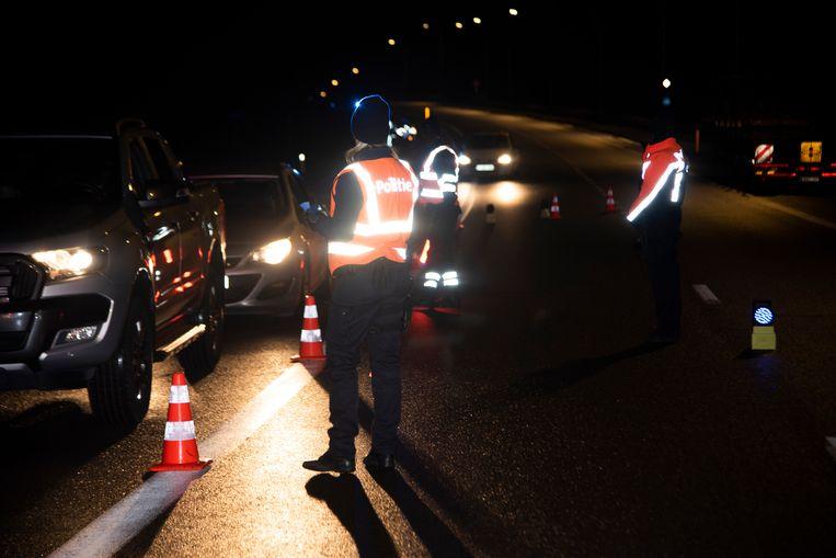 Politiecontrole in de politiezone Wetteren-Laarne-Wichelen.