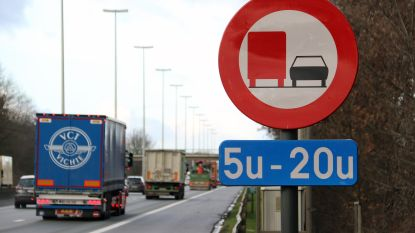Inhaalverbod vrachtwagens op E313 geldt voortaan twee uur langer