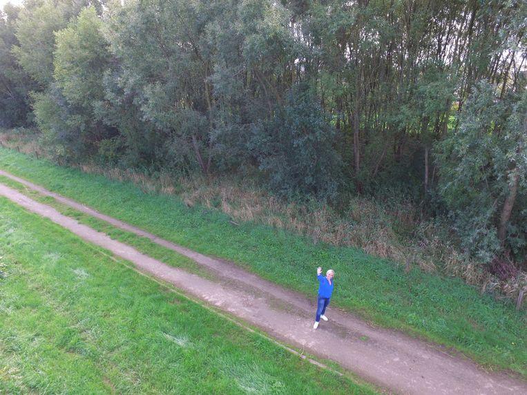 Een screenshot uit het drone-filmpje van Ilse Pissens.