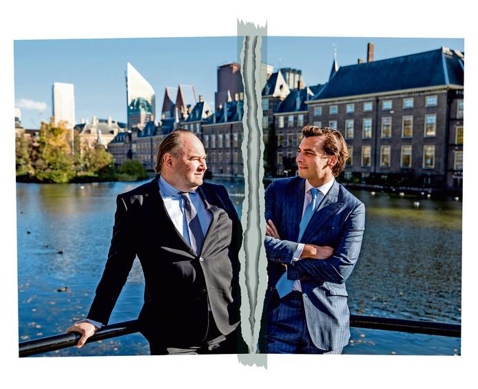 Forum voor Democratie-leider Thierry Baudet en Henk Otten.