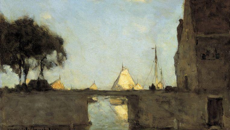 J.H. Weissenbruch: Te Noorden bij Nieuwkoop, 1903. Beeld Collectie Dordrechts Museum