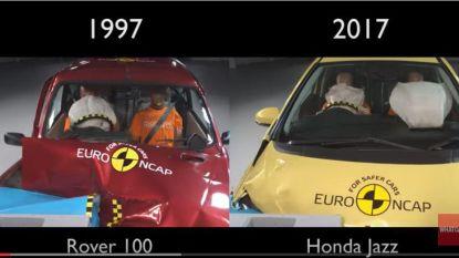 Verbluffend: crashtest toont vooruitgang van autoveiligheid sinds 1997