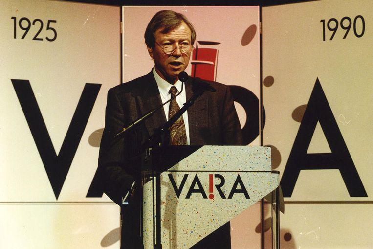 Toenmalig VARA-voorzitter Marcel van Dam in 1990 (ANP) Beeld
