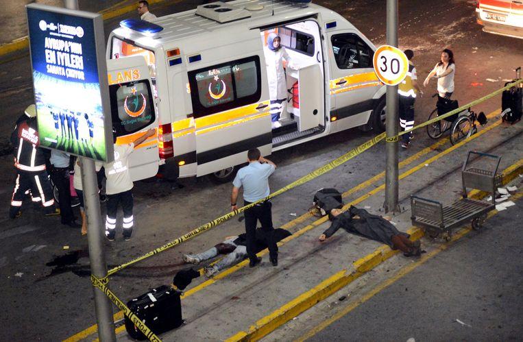 Bij de aanslag op de luchthaven van Istanboel, in juni vorig jaar, vielen 46 doden.