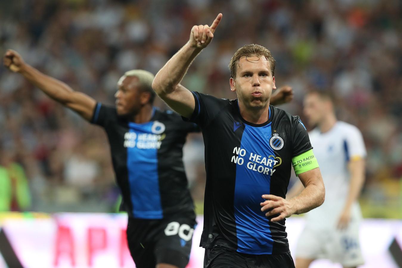 Ruud Vormer viert zijn goal.