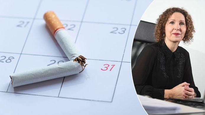 Rechts op de foto: tabacoloog Els Bosch