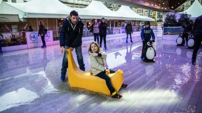 Schaatsen onder Stadshal kan je nat pak bezorgen