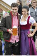 Robert Lewandowski met zijn vriendin Anna Stachurska.