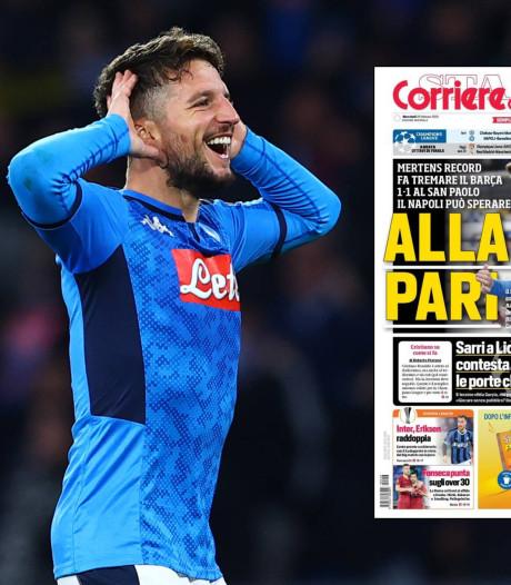 Italiaanse media prijzen Mertens (ex-PSV): 'In het huis van Maradona is Dries de baas'