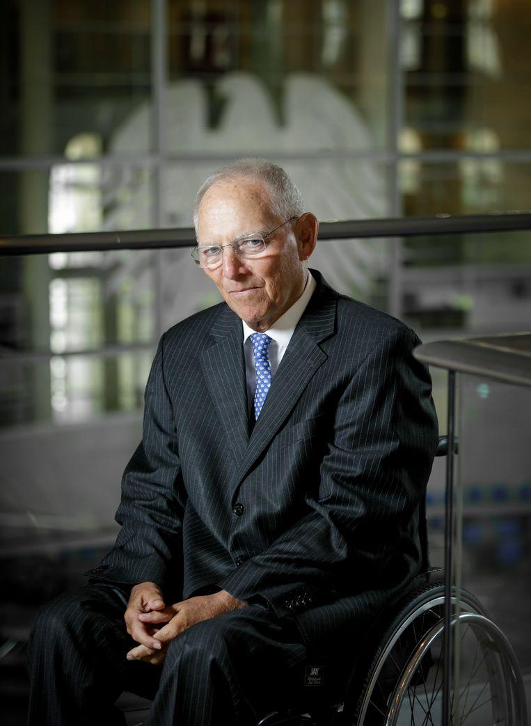 Wolfgang Schäuble: 'Ik weet dat men dat in Nederland niet graag hoort, maar we moeten de Europese munt met een sterker gemeenschappelijk economisch en financieel beleid ondersteunen.' Beeld Getty