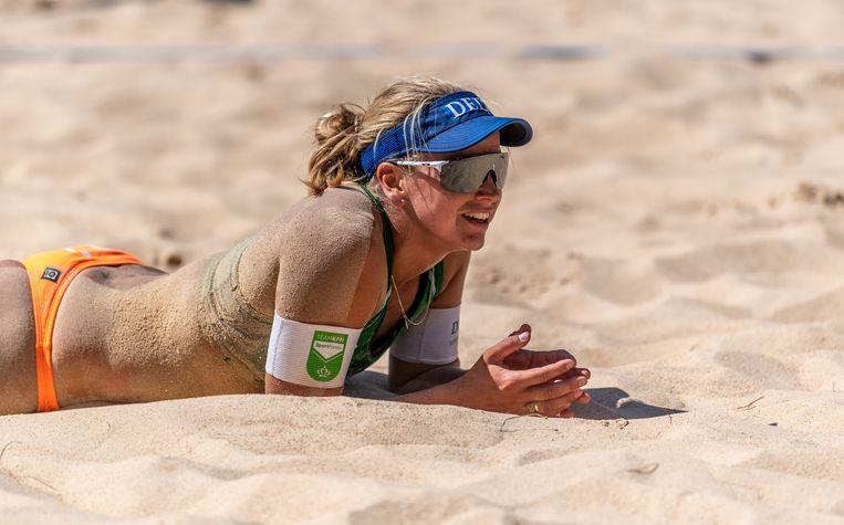 Marleen van Iersel tijdens de FIVB World Tour Finals in Rome vorig jaar september.  Beeld BSR Agency