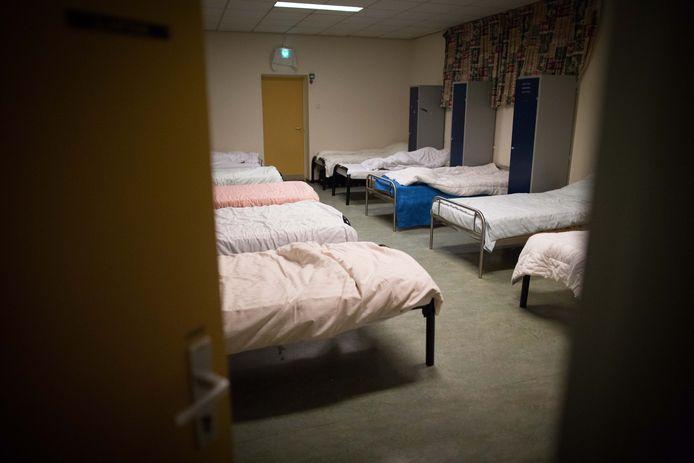 Een oude slaapzaal van daklozencentrum De Hulsen van IrisZorg in Nijmegen (archieffoto).