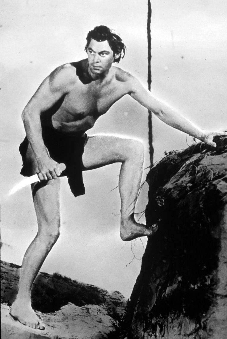 Johnny Weissmüller als Tarzan. Beeld null