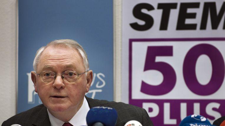Lijsstrekker Jan Nagel van de politieke partij 50PLUS. Beeld anp