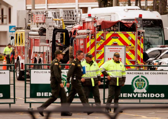 De politieschool wordt extra beveiligd na de aanslag.