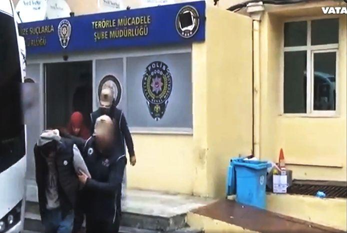 2018 TURKIJE , SANLIURFA : Arrestatie van IS Leden in Turkije. Onder hen  Xaviera S. uit Apeldoorn. FOTO: Screenshot Vatan TV