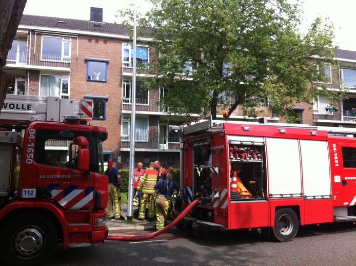 Brand van de portiekwoning aan de Hogekampsweg