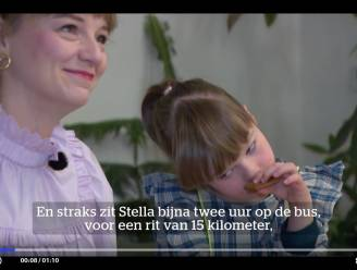 """Meisje met beperking (8) zit 4 uur per dag op de bus: """"Alsof je elke dag naar Amsterdam moet pendelen"""""""