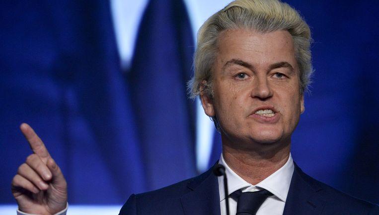 Wilders op een bijeenkomst van Vlaams Belang. Beeld Dirk Waem / BELGA