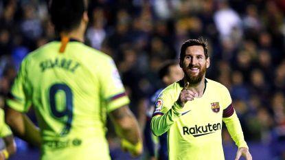 Messi dirigeert Barça met hattrick en twee assists naar ruime zege bij Levante