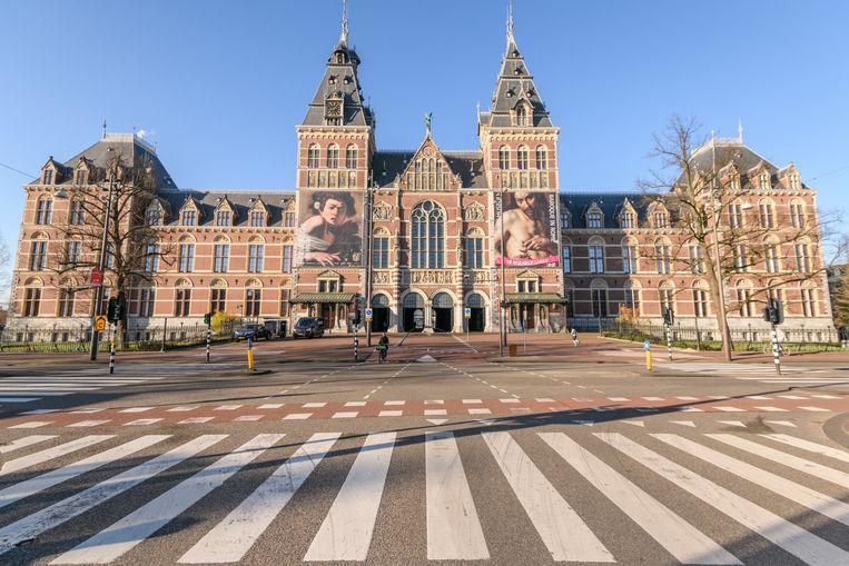 Het is altijd druk op de Stadhouderskade bij het Rijksmuseum in Amsterdam. Maar niet op 31 maart. Beeld Getty Images
