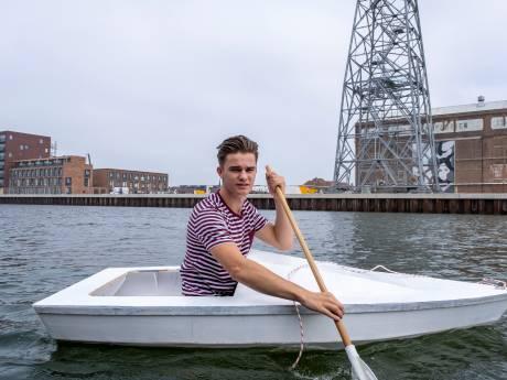 Nog een mast, kiel en zwaard, maar dan kan Melvin varen met zijn zelfgebouwde zeilboot
