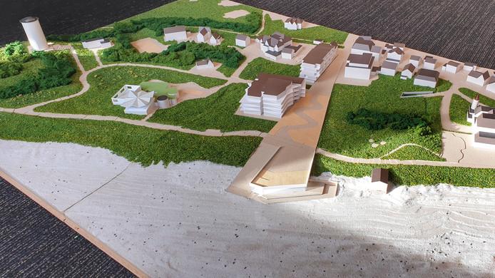 Deze maquette zorgde voor een schok bij de leden van de klankbordgroep. Zo willen ze niet dat het Nehalenniagebied er ooit uit komt te zien.