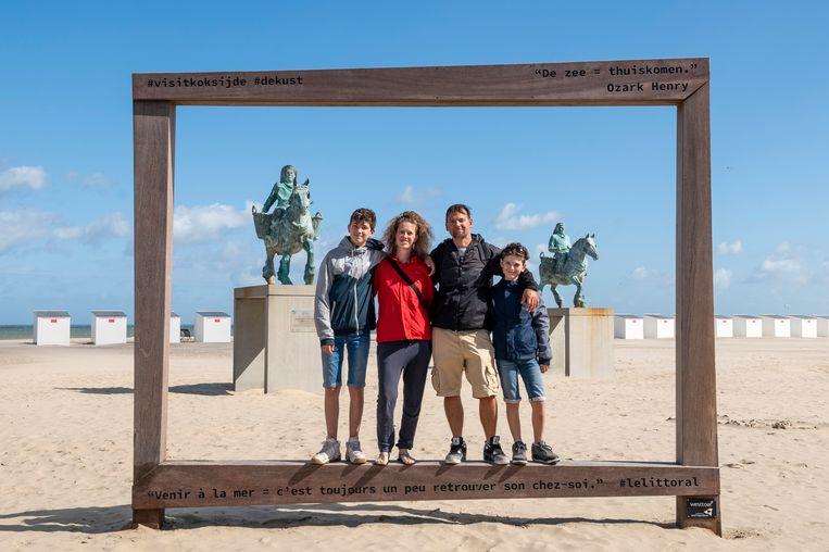 Caroline Buytaert en haar gezin.
