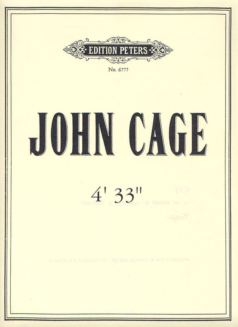Omslag van de partituur van 4'33''.   Beeld Edition Peters