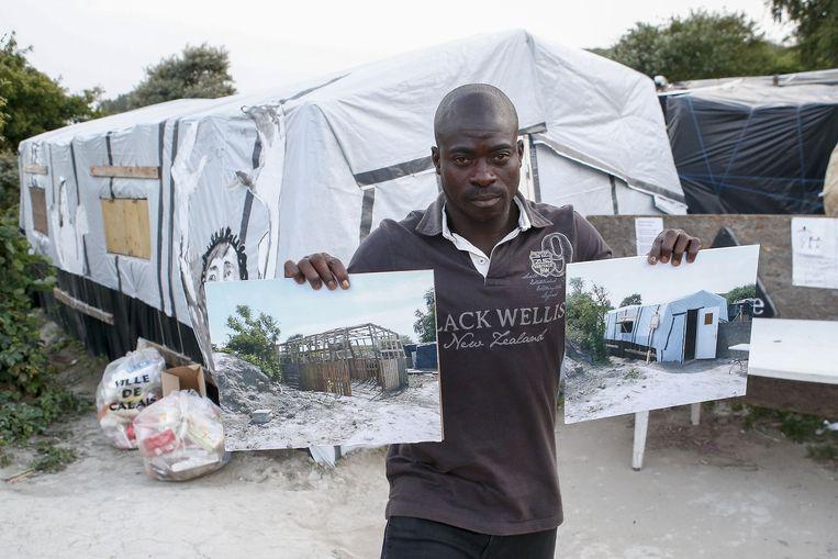 Zimako uit Nigeria bouwde het schooltje helemaal alleen. Nu wil hij nog twee scholen en een ziekenhuis bouwen met paletten. En hij kan voetballen ook.