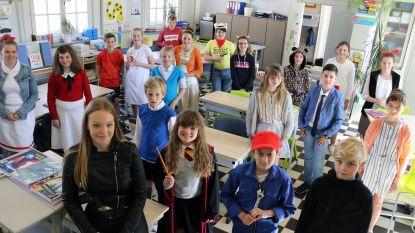 Leerlingen De Pagadder komen uitgedost als hun favoriet boek- of strippersonage naar school